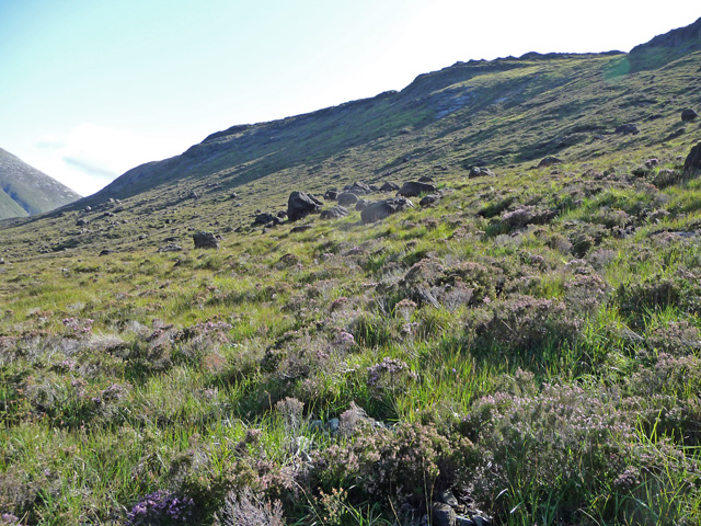 North slopes of Meallan Dearg
