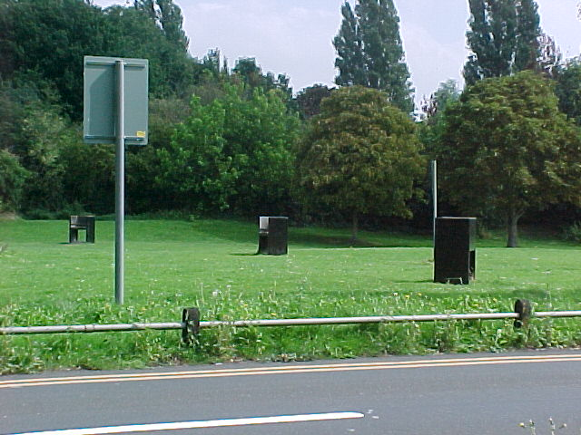 Barbecue area in Laleham Park, by the River Thames
