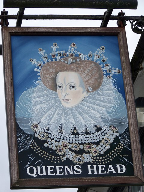 sign for the queen 39 s head ludgershall maigheach gheal. Black Bedroom Furniture Sets. Home Design Ideas