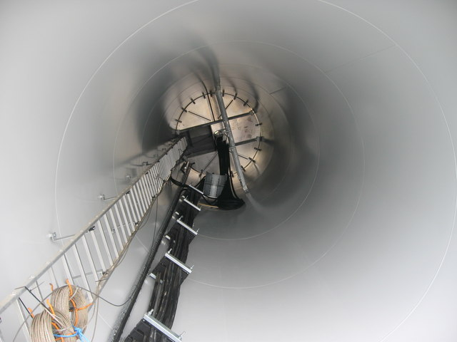 Inside Turbine Tower No 17