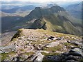 NG8661 : View along the east ridge of Sgurr Mor towards the Horns of Alligin by Dr Julian Paren