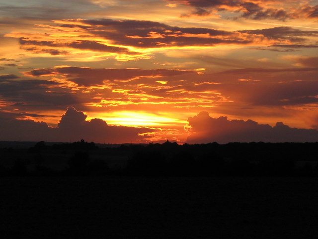 Sunset Over Wistow