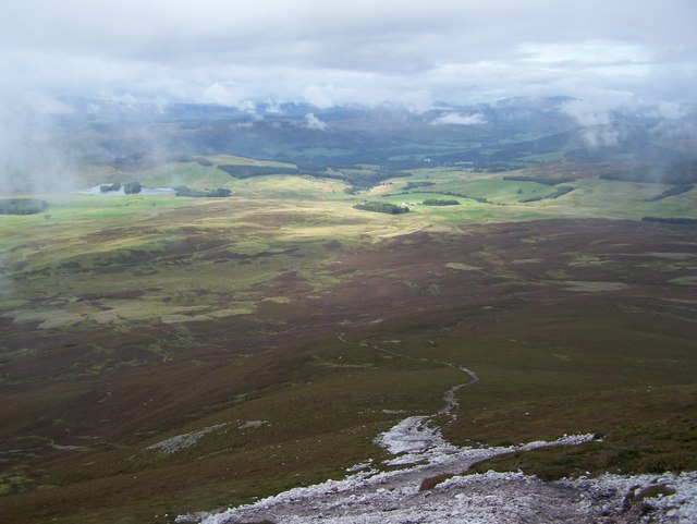 Looking towards Blair Atholl from Carn Liath Path