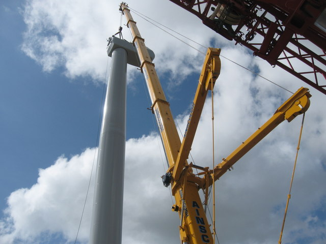 Turbine Tower No 11 under construction