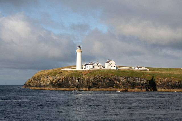 A western view of the Cantick Head lighthouse