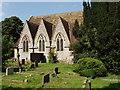 SU7990 : Churchyard and church, St John the Evangelist, Frieth by David Hawgood