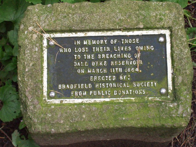 Dale Dyke Memorial plaque