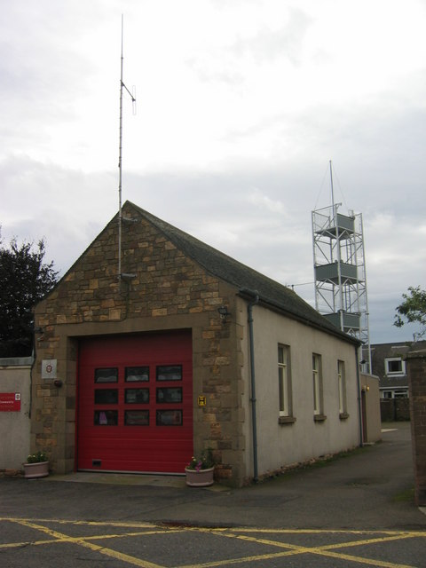 East Linton Fire Station on B1377