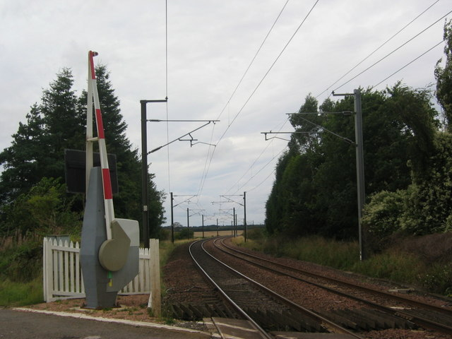Markle level crossing, looking north-west