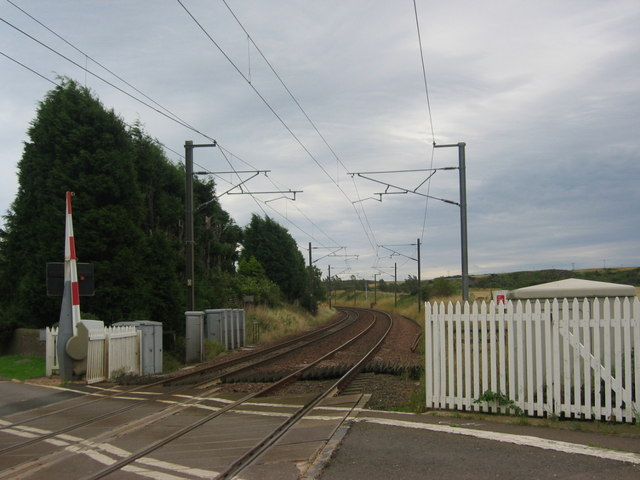 Markle Level Crossing, looking south-east