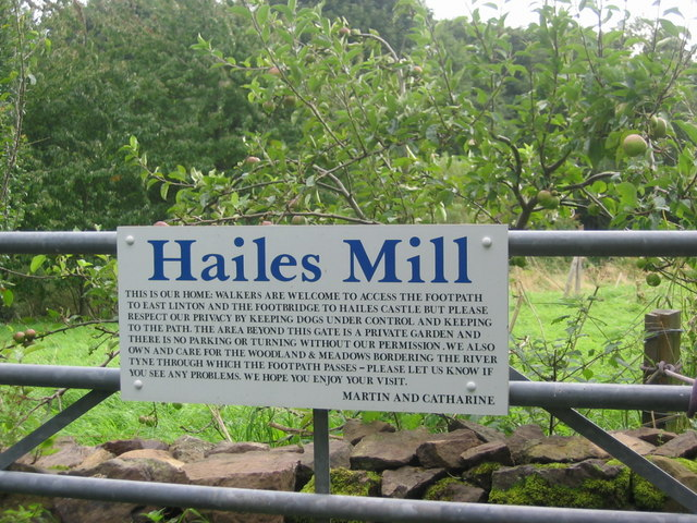 Hailes Mill entrance gate