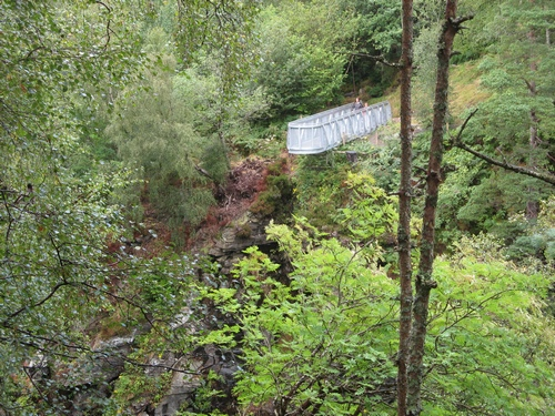 Viewing platform in Corrieshalloch Gorge