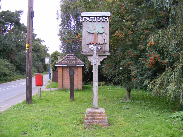Parham Village Sign