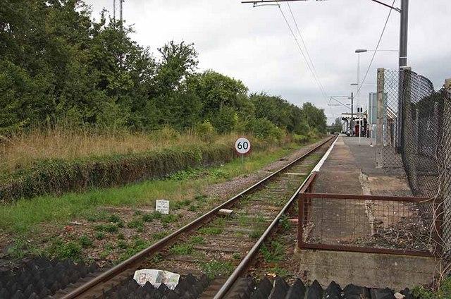 South Woodham Ferrers Station - Railway line