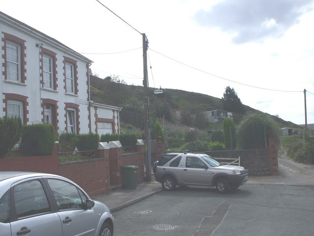 Southern end of Glamorgan Terrace, Gilfach Goch