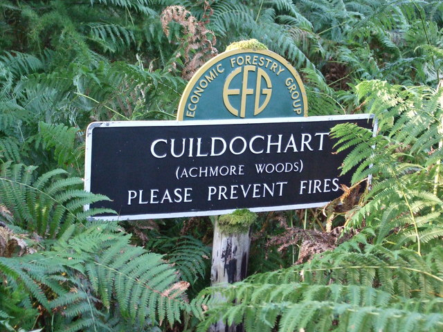 Cuildochart Achmore Woods Sign