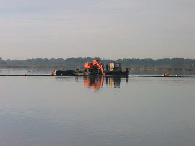 Dredgers on Hickling Broad
