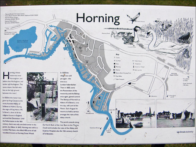 Info board at Horning Staithe