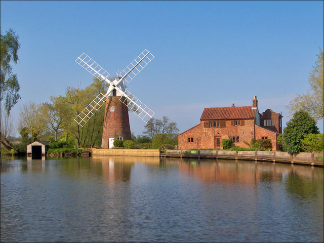 Hunsett Mill on the River Ant