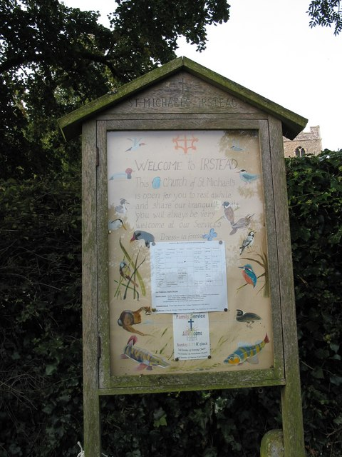 St. Michael's Church info board