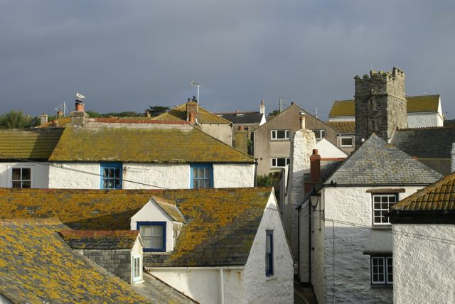 Rooftops in Church St, Gorran Haven