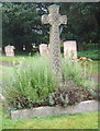 TL0873 : Cross in churchyard, near the porch by Andrew Hill