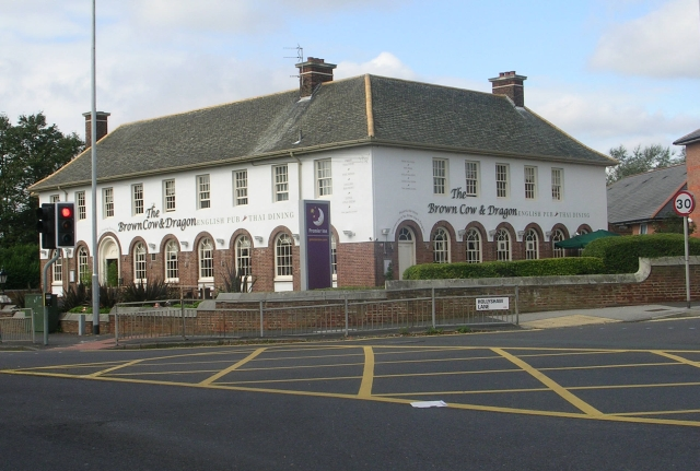 SE3633 : The Brown Cow & Dragon - Selby Road, Whitkirk