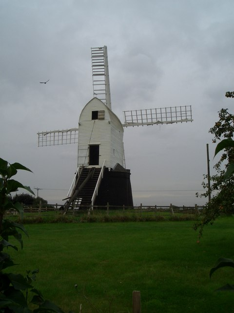 Wrawby post mill - four sails again