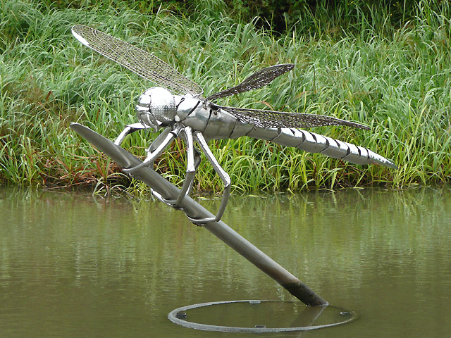 Dragonfly Sculpture At Hatton Locks 169 Roger Kidd Cc By