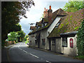 SU8084 : The A4155 and Ye Olde Dog and Badger, Medmenham by Andrew Smith