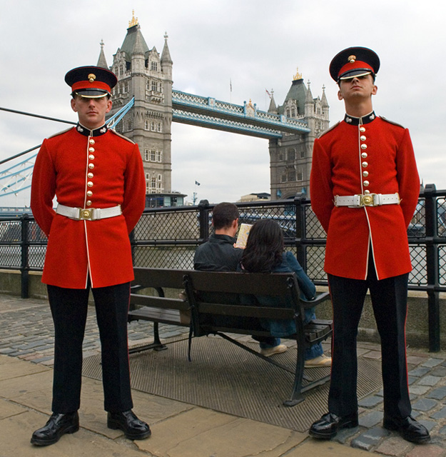 Tower Guards and Tower Bridge
