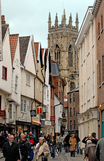 York Minster from nearby street