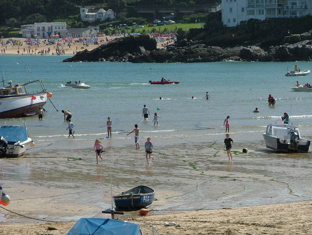 View towards Porthminster beach from St Ives harbour