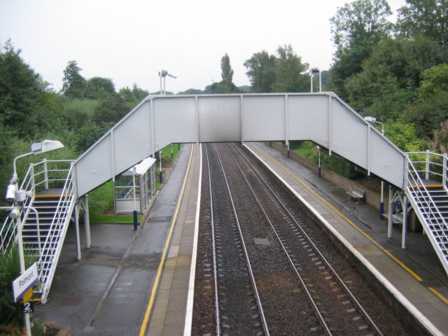 Polmont rail station footbridge