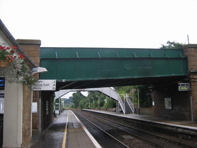 Polmont rail station metal bridge on the B810