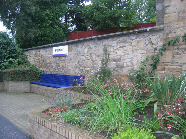 Seating area at Polmont rail station
