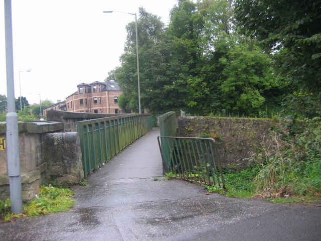 Union Canal metal footbridge at Bridge 54