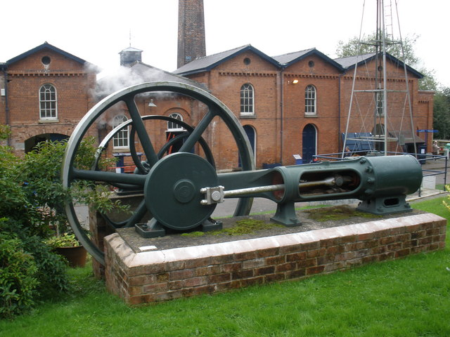 Tangye single-cylinder horizontal steam engine