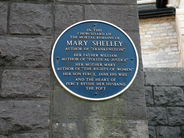Mary Shelley Family Blue plaque for Mary Shelley