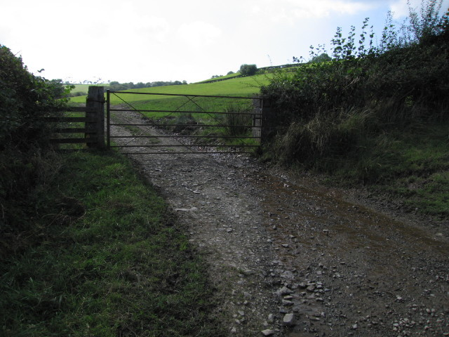 Gate into a field