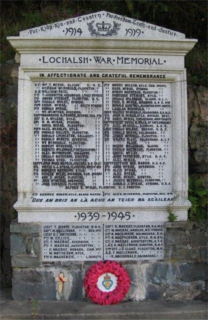 Lochalsh War Memorial - Detail