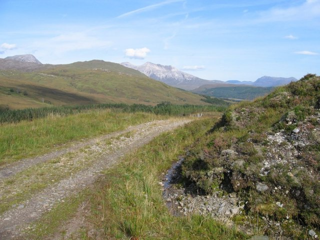 Coulin Pass - with a view of the Torridon range