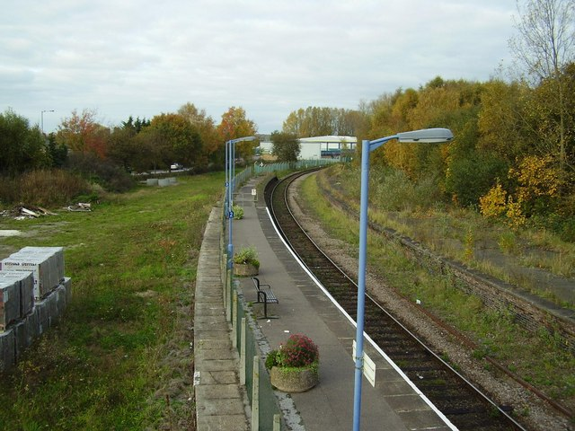 Beccles  station yard looking north