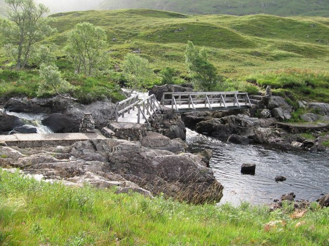 Bridge over the River Elchaig on the track to the Falls of Glomach