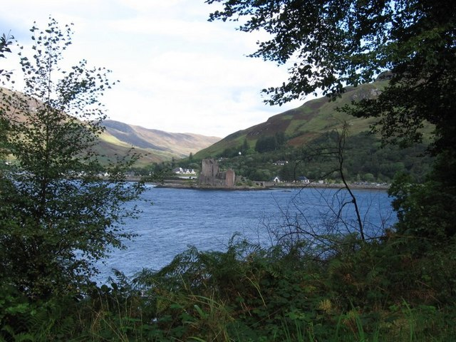 Eilean Donan Castle from Totaig across Loch Duich