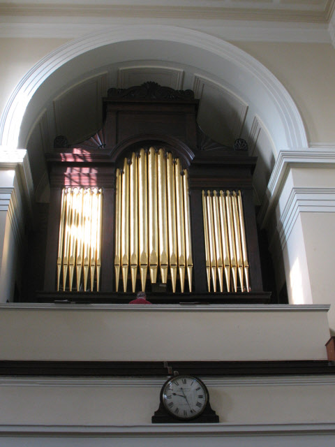 The organ in St James's church