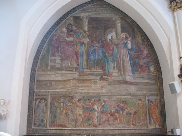 Poynter's fresco, St Stephen's, South Dulwich