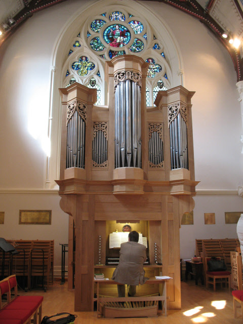 Pulham organ in St Stephen's