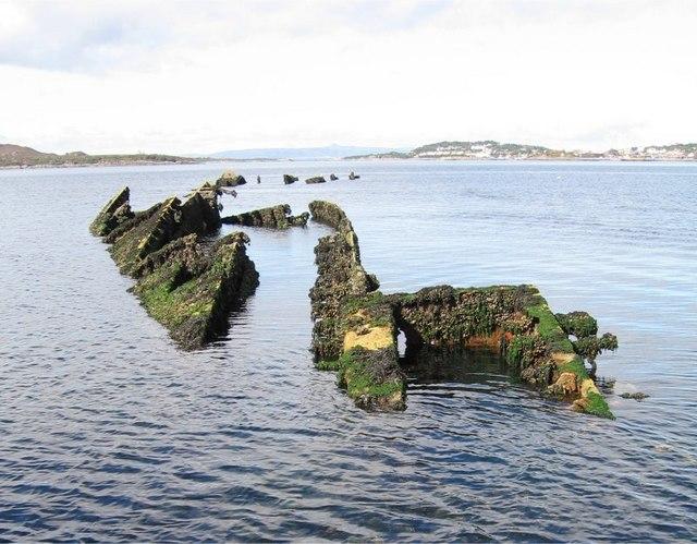 Wreck of the HMS Port Napier in Loch Alsh