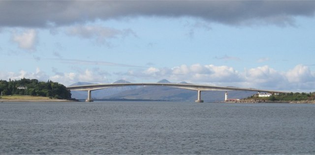 Skye Bridge, linking the Isle of Skye with mainland Scotland